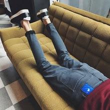 2016 new plus velvet Lee Jeans Pants men's pants men's casual pants Metrosexual trousers
