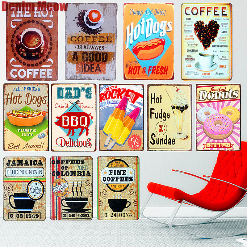 Farmers market metal tin sign vintage cafe pub motorcycle retro garage kitchen