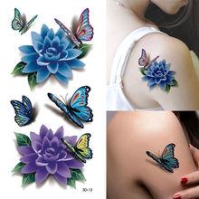 3pcFlower Fake Tattoos Design Temporary Tatoos Stickers Temporary Body Art Waterproof Tattoo Pattern Henna Fake Tattoo Tatouages