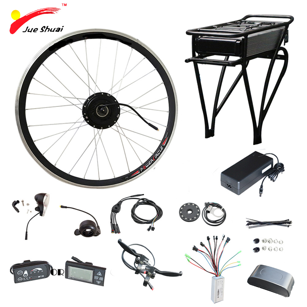 цена на 36V 250W - 500W Electric Bike Kit for 20 26 700C Wheel Motor Kettle Battery LED LCD Ebike e bike Electric Bike Conversion Kit
