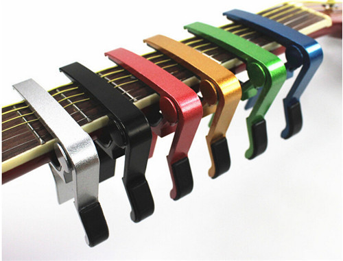 High Quality Aluminium Alloy New guitar tuner Quick Change Clamp Key Acoustic Classic Guitar Picks Capo For Tone Adjusting