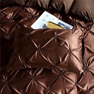 Image 3 - LOVINSUNSHINE edredón juegos de cama doble edredón conjunto King Size Luxury Silk edredter Cover AC03 #