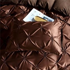 Image 3 - LOVINSUNSHINE مجاميع راحة الفراش مزدوجة لحاف مجموعة غطاء الملك الحجم الفاخرة الحرير المعزي غطاء AC03 #