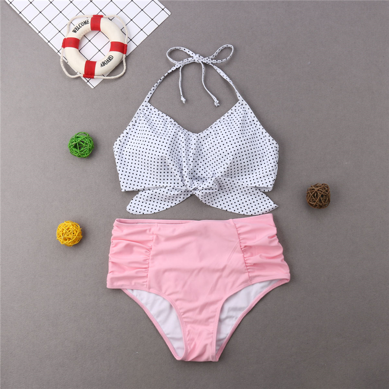 HTB1IkmDaIfrK1Rjy1Xdq6yemFXag Swimwear Mom And Daughter Bikini Set Father And Son Matching Outfits Women Swimwear Baby Girl Swimsuit Family Matching Outfits