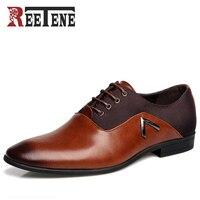 Comparar Zapatos de vestir puntiagudos para hombre de moda, zapatos de verano para hombre marca de lujo 2016 Zapatos de PU de alta calidad para Hombre Zapatos Oxford para