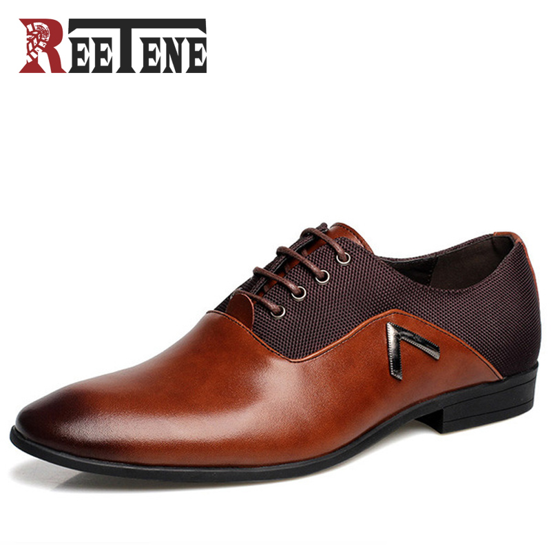 Fashion Mens Pointed Toe Klädskor, Sommar Herrskor Luxury Brand 2016 Högkvalitativa män PU Skor Oxford Shoes For Men Zapatos