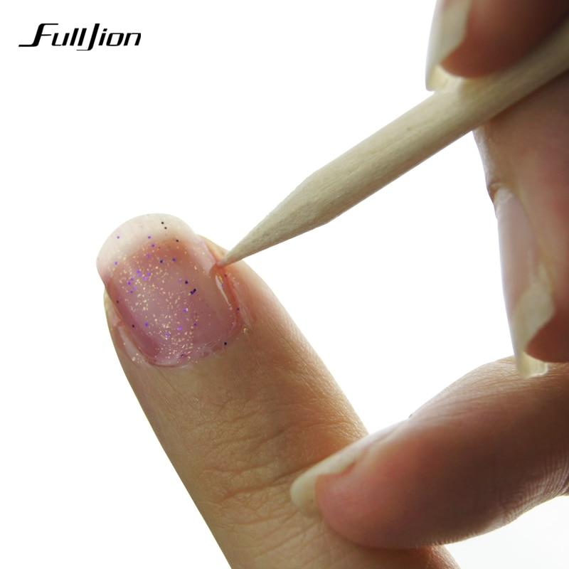 Fulljion 100pcs Nail Art Orange Wood Stick Cuticle Nail Polish
