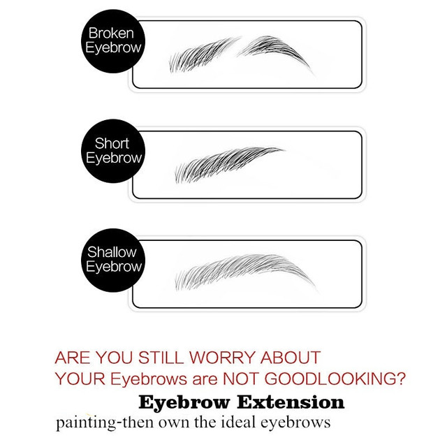Eyebrow Enhancers Fiber Natural Hair Gel Makeup Eye Brow Extension Tinted Black Brown Long Lasting Tattoo Eyebrows Women 5