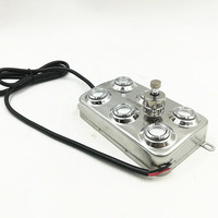Stainless Steel High Quality 6 Head Mist Maker Industrial Humidifier Water Fountain Pond Atomizer Without Power Supply