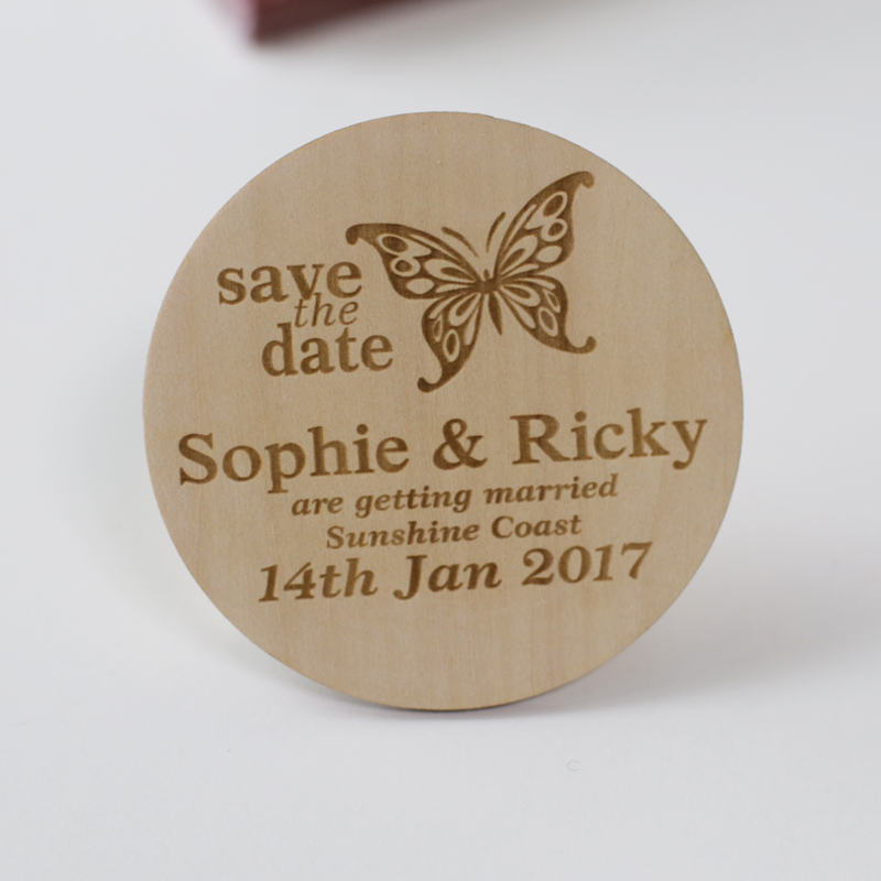 Butterfly Stlyes Wedding Save the Date Magnets, Personalized Elegant ...