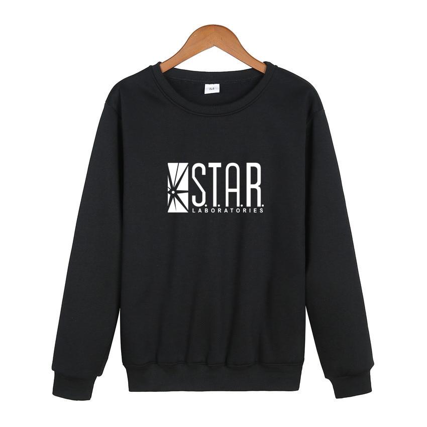 Flash Barry Allen Star Lab Labs Black Color Mens Sweatshirt Men Novelty Hoodies Pullover 2017 Male Clothes Arrow Friend 7 Color