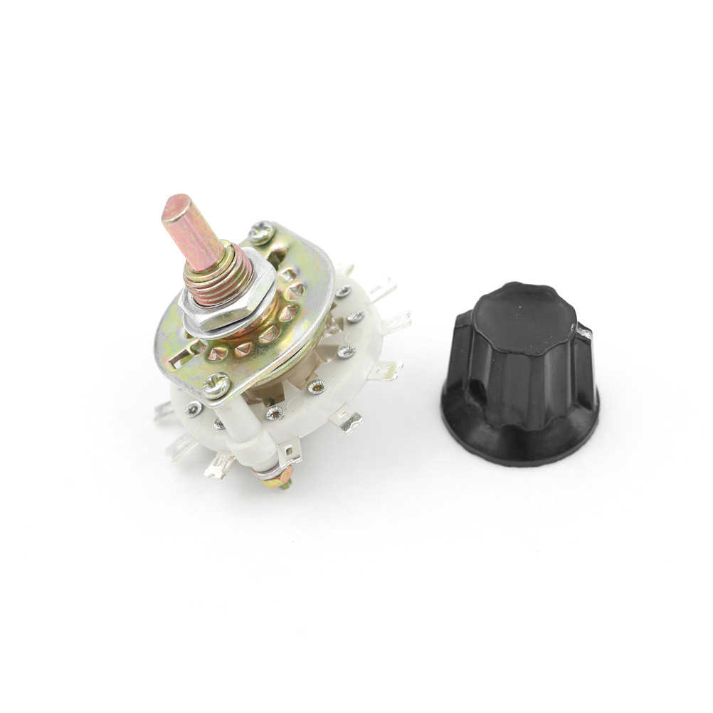 HOT 1PCS Plastic Knob 2P5T 2 Poles 5 Position Band Channel Rotary Switch