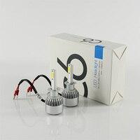 Precio al por mayor 10 sistemas por paquete brillante H1 COB chip 36 W 3800lm 6000 K C6 turbo Faros LED DRL Que Conduce la lámpara de la Niebla Del Bulbo 12-24 v