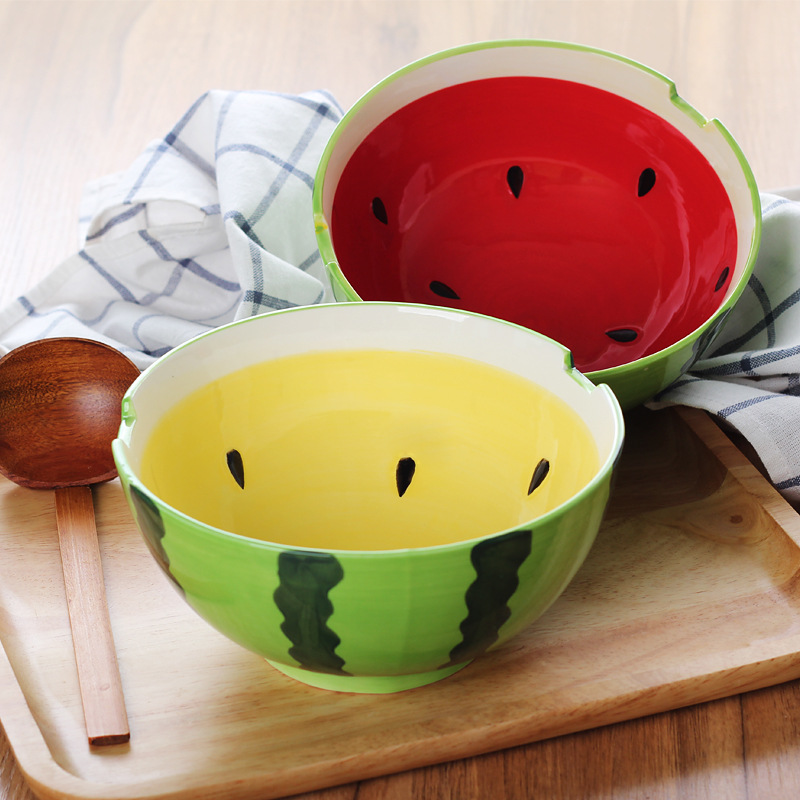7.2 inch Fruit style Ceramic Dinner Noodles Bowl Dinnerware Home Kitchen Salad Snacks Tableware