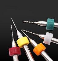 כלי קרביד כלי cnc 10pcs מקדחה PCB ביטים ערכת מיני טונגסטן פלדה קרביד Drill Bit שנקבע מתכת נגרות Circuit Board CNC כלי כלי DT6 (5)