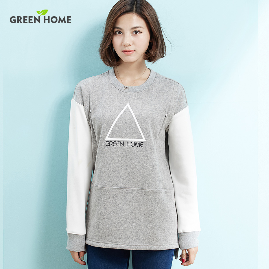 Hot Simple Maternity Sweater Nursing Tops Warming Long Sleeve Hoodies Fashion Breast-feeding Winter Sweater Thick Maternity Tees