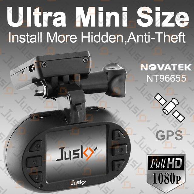 Jusky Ultra Mini 0903 Car DVR 1920x1080P FHD Camera Novatek 96655 Dash Cam Registrar Video Recorder Registrator GPS Tracker WDR