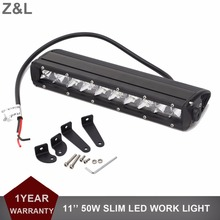 Led Car light 11 Inch 50W Off Road 4×4 4WD ATV UTV SUV Driving Motorcycle Work Light Bar Truck Trailer Wagon 12V 24V Fog Lamp