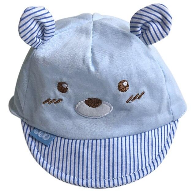 Acessórios do bebê Recém-nascido Menino Crianças Chapéus Urso Partern  Infantil Sun Hat Com a b617b404b91