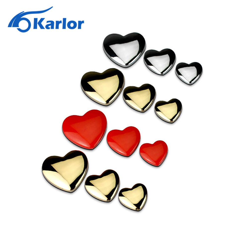 Top Quality DIY Heart Shaped Love 100% 3D Metal Red Gold Silver Ho Car Auto Motorcycle Emblem Badge Sticker Logo Car Styling auto chrome camaro letters for 1968 1969 camaro emblem badge sticker