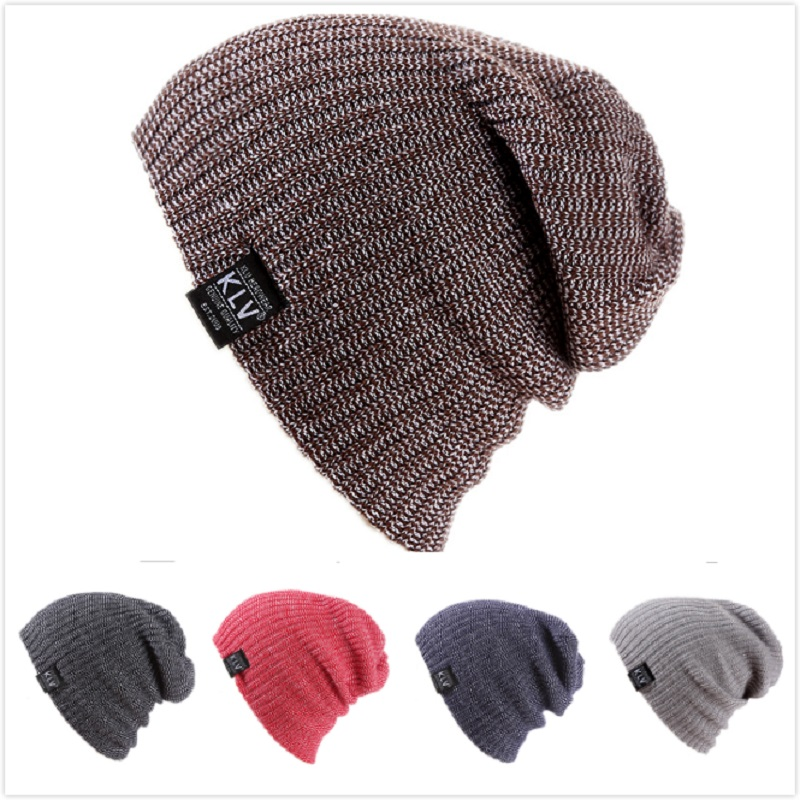 Winter Hats For Men Women Knit Casual Hat Crochet Baggy Beanie Ski Slouchy Chic Knitted Cap Skull Autumn Hat For Girl And Boy