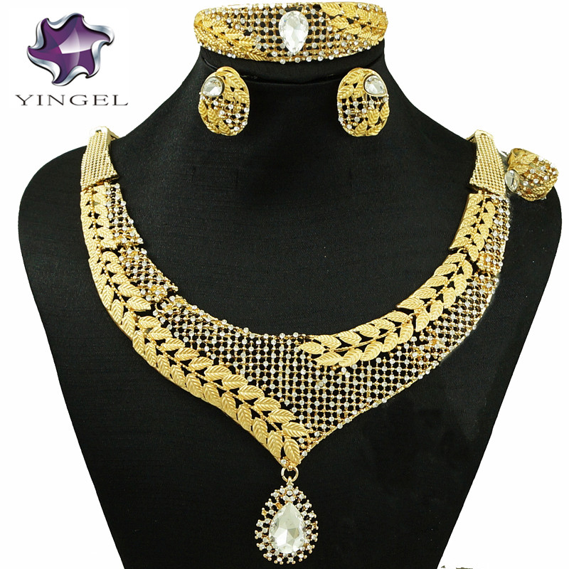 fine jewelry sets fashion jewelry african gold jewelry sets women big necklace