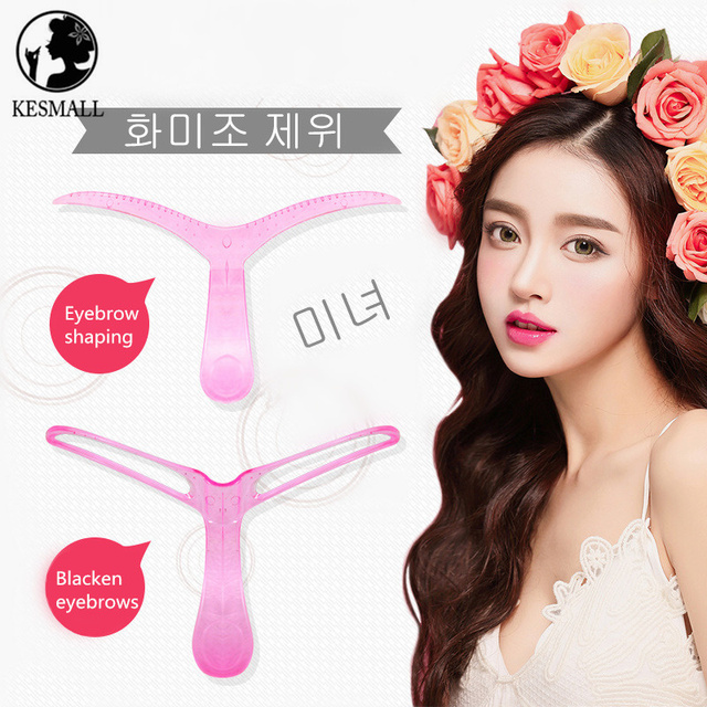 4Pcs Brand Eyebrow Stencils Shaping Grooming Eye Brow Make Up Model Template Reusable Design Eyebrows Styling Beauty Tool XN571M