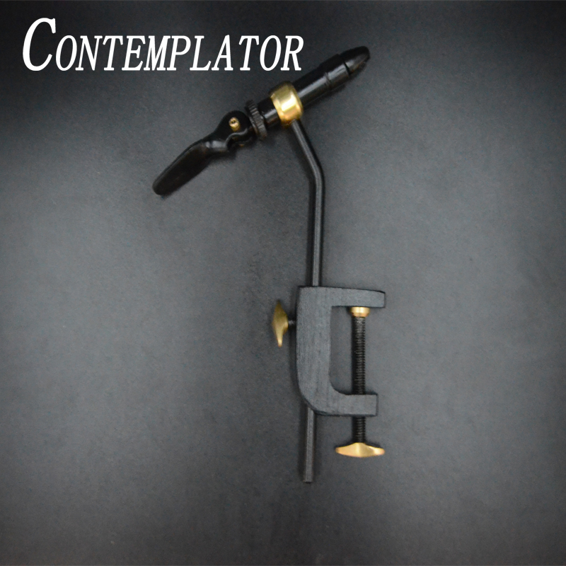 CONTEMPLATOR 1set Fly Tying Classic Handy Vise Tool Safety Holding Hook Fishing Brass C-clamp Tying Vise With Steel Hardened Jaw