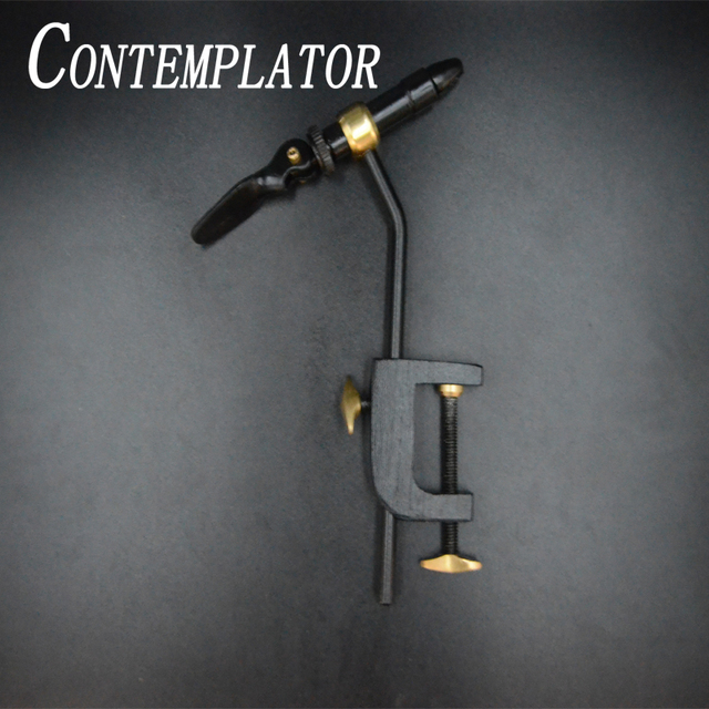 CONTEMPLATOR 1set fly tying classic handy Vise tool safety holding hook fishing brass C clamp tying vise with steel hardened jaw