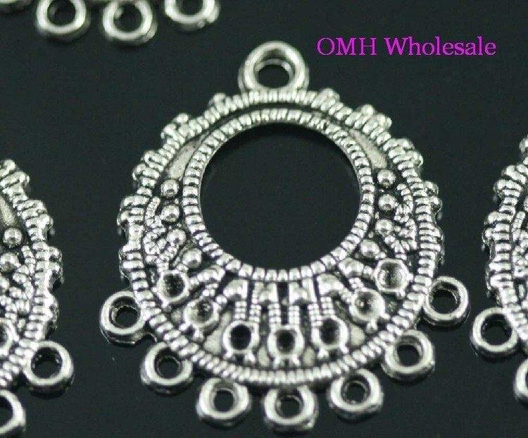 Conector mantra tibetano plata encanto granos del metal hallazgos diseño de joyas artesanales