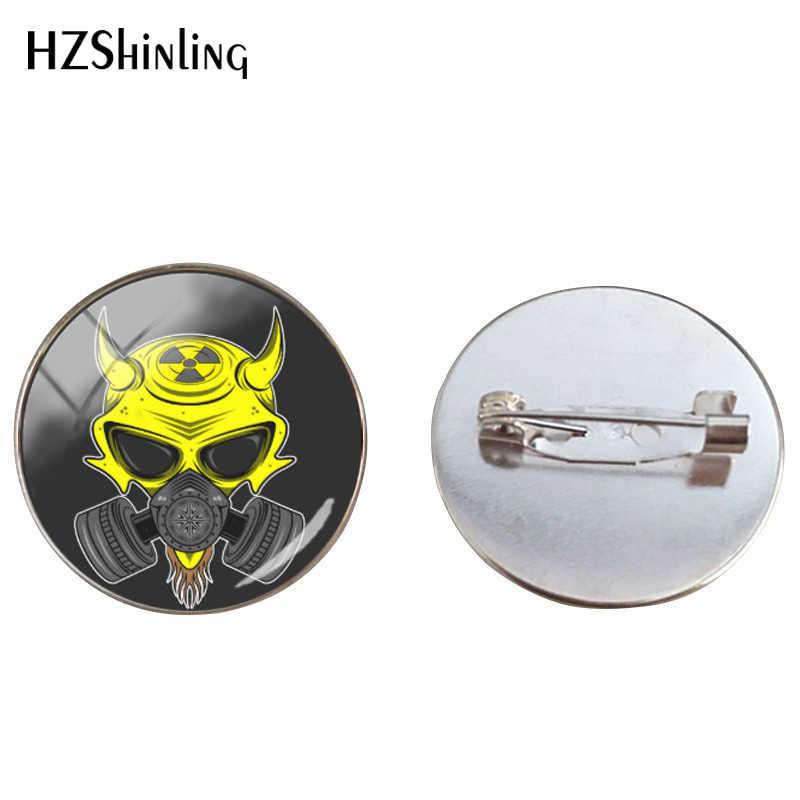 เข็มกลัดแฟชั่น Fallout Shelter สติกเกอร์รอบแก้วโดมเข็มกลัด Cabochon ภาพพิมพ์ของขวัญเข็มกลัด Pin สำหรับเพื่อน