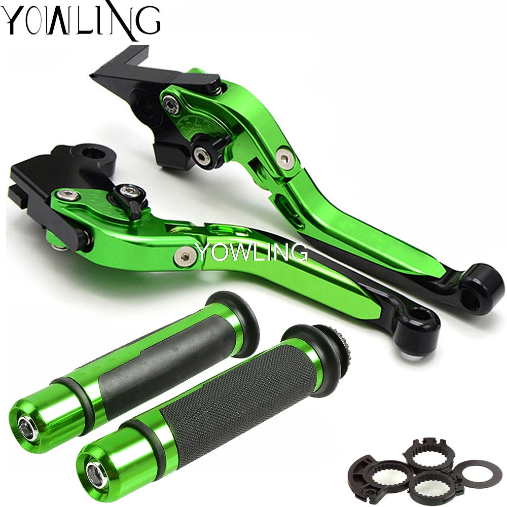 Motorcycle Adjustable Brake Clutch Levers Handlebar Hand Grips Handle bar Handlebar Hand Bar Grip For Kawasaki <font><b>Z1000</b></font> 2017 <font><b>2018</b></font> image