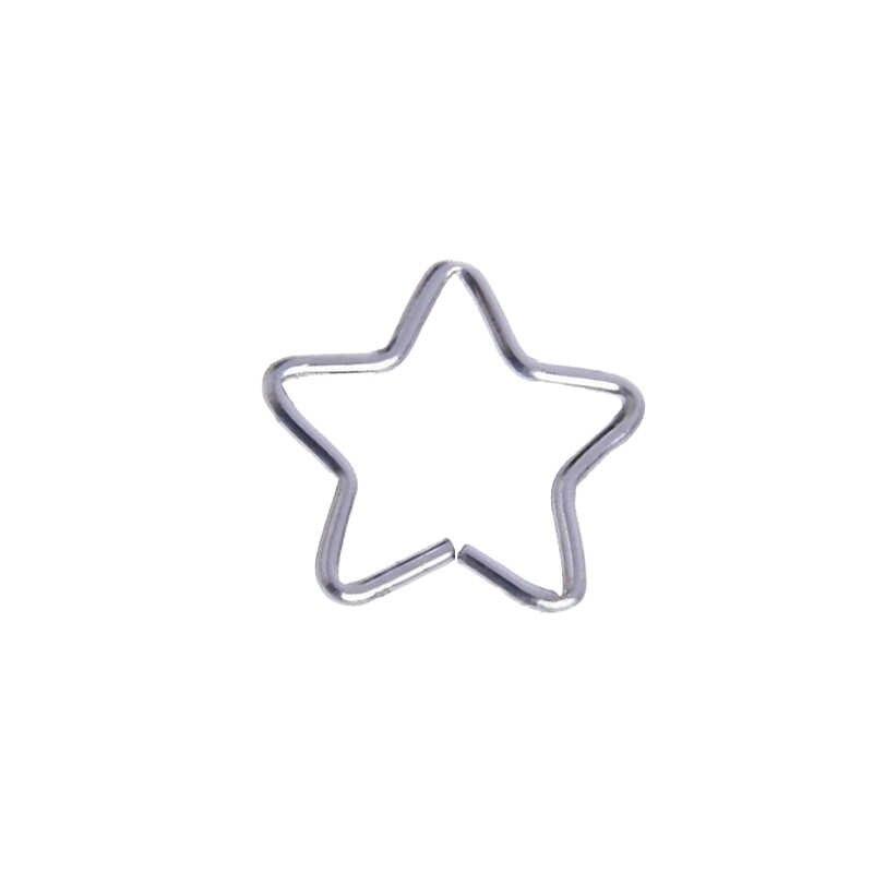 1 шт. кольцо для носа в готическом стиле для губ, ушей, носа с клипсой для пирсинга перегородки в Носу Кольцо для пирсинга в носу кольца для губ серьги