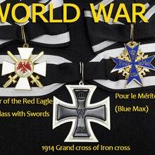 XDT0017 WWI немецкая Империя военные украшения 1914 большой крест Железный крест Орден Красного орла Pour Le Merite с лентой