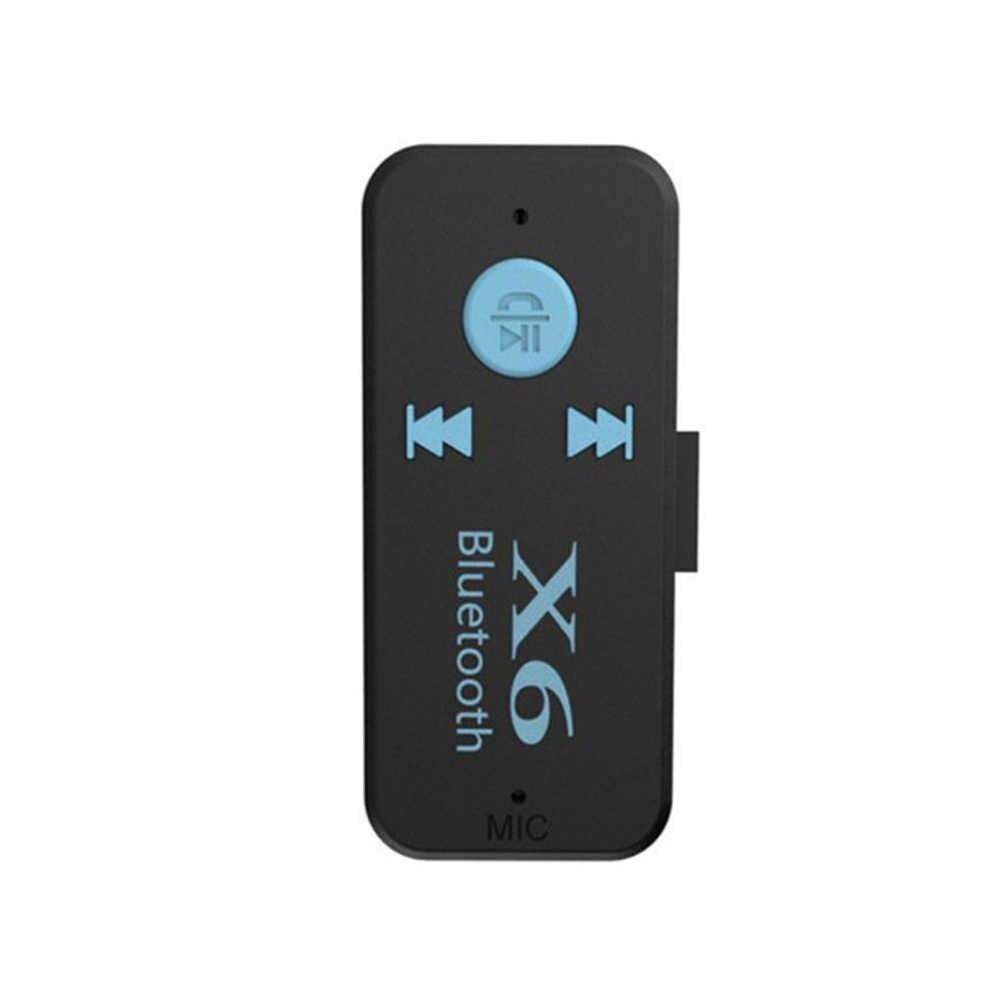 Беспроводной устройство для считывания с tf-карт портативный приемник Bluetooth микрофон вызова аудиоразъем 3,5 мм Mini 3 в 1 взаимный обмен данными между компьютером и периферийными устройствами 4,1 адаптер X6