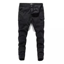 цены на black color fashion men jeans jogger pants youth punk style hip hop trousers streetwear casual leisure cotton cargo pants men в интернет-магазинах
