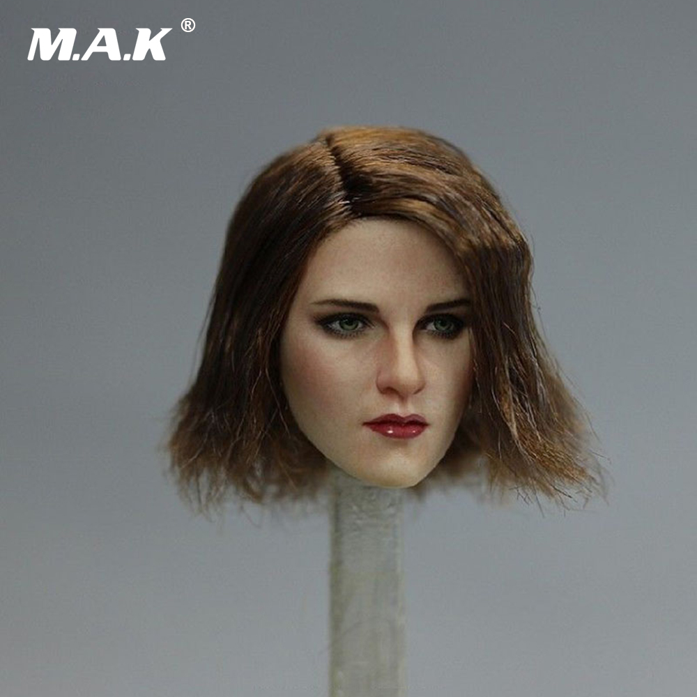 "1//6 European Female Star Head Kristen Stewart Head Sculpt For 12/"" Figure Body"