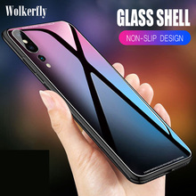 Tempered Glass Case For Huawei Mate 20 X Pro P20 Lite P10 On Honor 8C 8X Max 10 9 7A 7C Y9 2019 Y6 2018 Nova 3 3i P Smart Fundas
