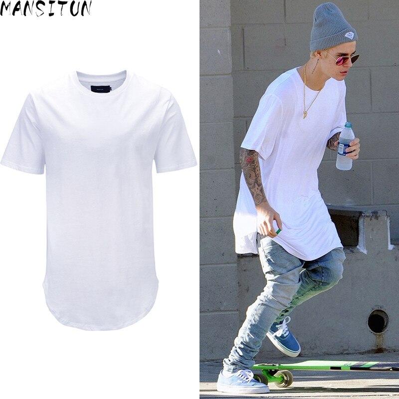 رجل سي تون الصيف أزياء رجالية ملابس steetwear الحضرية طويل تي شيرت مع تنحنح المنحني قميص زائد حجم أبيض طويل القمم تيز الهيب هوبتيس