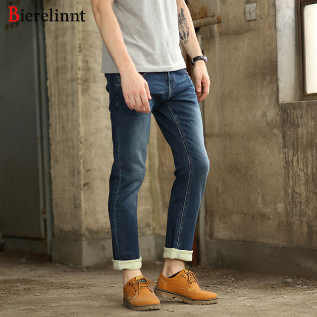 62010237 Bierelinnt Retail & Wholesale Cotton Denim Men Jeans,2018 Fashion Straight  Slim Hot Sale Elastic Good Quality Jeans Men,370961