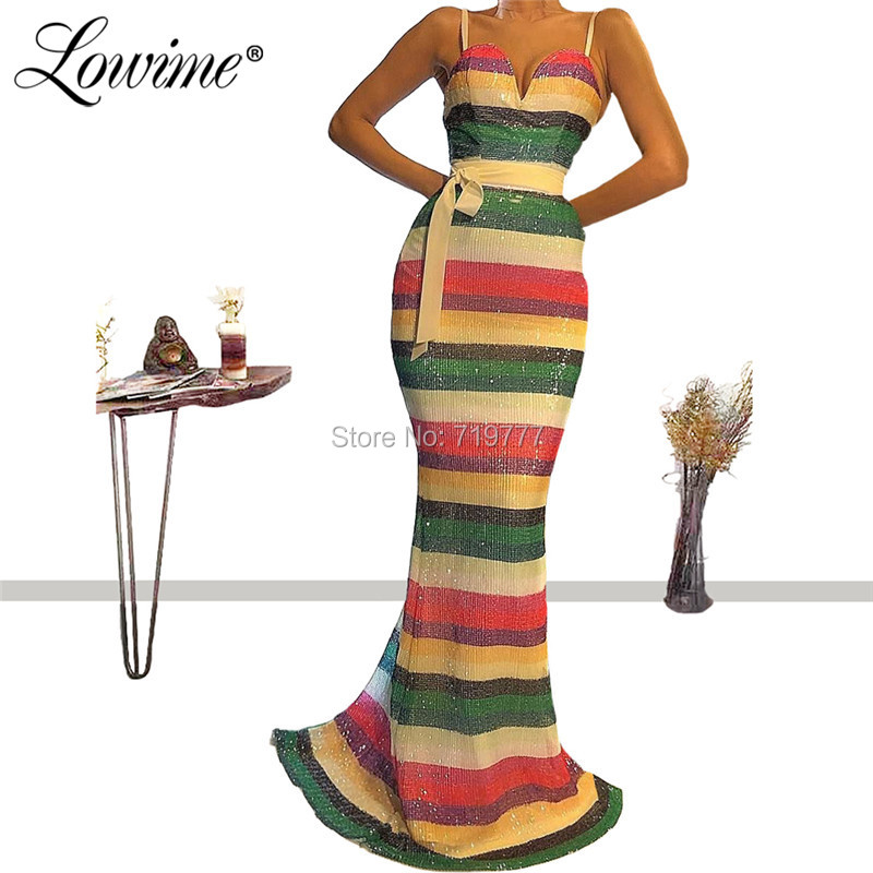 Abendkleider Simple Mermaid Party Dress Custom Made Cheap Sequin Abiye Prom Dresses 2019 Robe Soiree African Evening Gowns