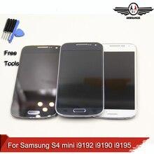 Для Samsung Galaxy S4 мини GT-i9195 i9190 i9192 для Samsung S4 мини ЖК-Дисплей Сенсорный Экран Digitizer Ассамблеи с рамкой