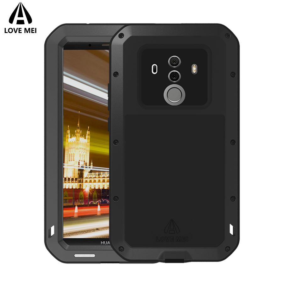 save off 6cfd5 262ed Love Mei Metal Case For Huawei Mate 10 Mate 10 Pro Aluminum Armor  Shockproof Waterproof Cover For Huawei Mate 10 / Mate 10 Pro-in Fitted  Cases from ...