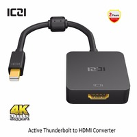 ICZI Thunderbolt Mini DP To HDMI Adapter 4K 60Hz Mini Displayport 1 2 To HDMI 2