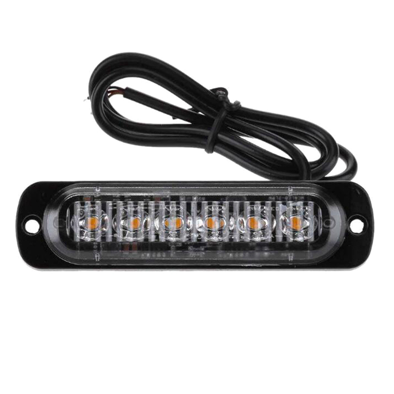 75cm DC 12V 6 Led Strobe Warning Light Grille Flashing Lightbar Ultra-thin Truck Car Lamp Anti-collisioan Anti-dust Signal Lamp