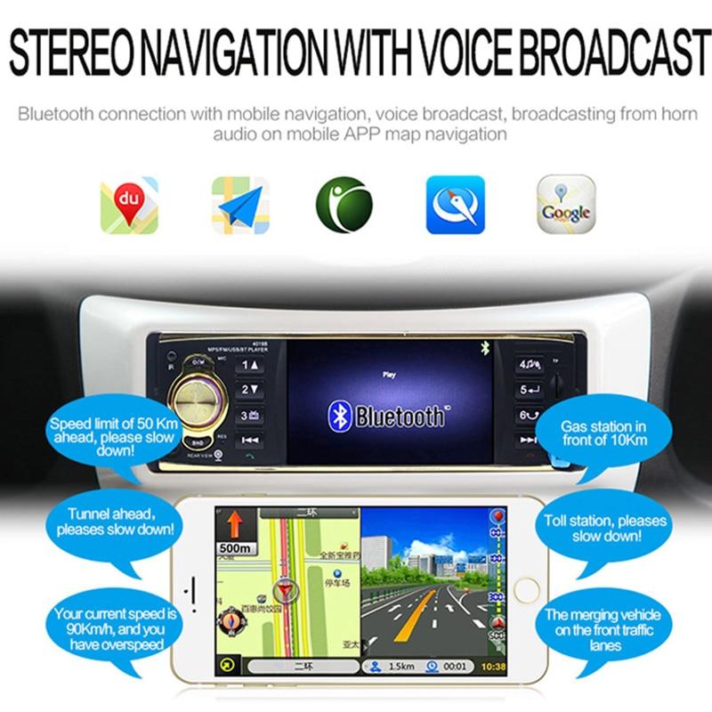 Autoradio Auto 4 pouces HD voiture stéréo Bluetooth MP5 véhicule MP5 Machine enfichable U lecteur de disque haut-parleur Radio Coche affichage - 2