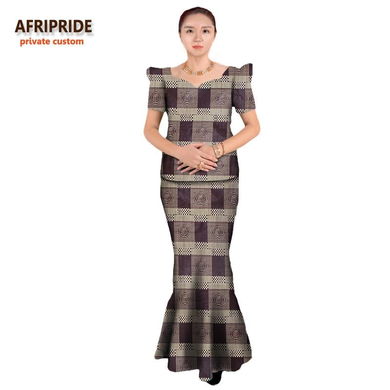 Sommarafrikanska klänningar för kvinnor tvådelade kostym - Nationella kläder - Foto 6