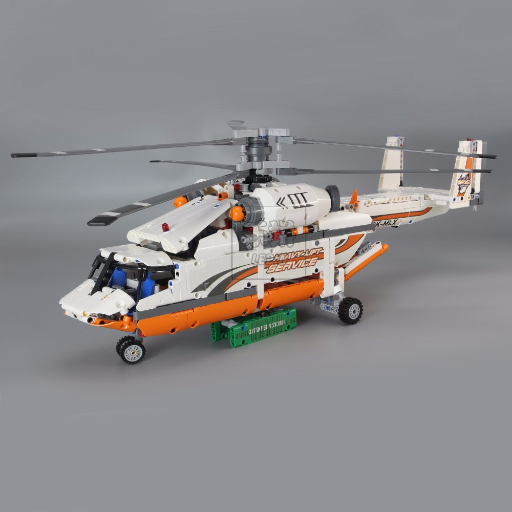 NEW LEPIN 20002 technic series 1060pcs Double rotor transport helicopter Model Building blocks Bricks Compatible legoed 42052 new lp2k series contactor lp2k06015 lp2k06015md lp2 k06015md 220v dc