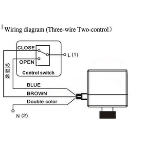 Image 5 - صمام كروي نحاسي بمحرك كهربائي DN15 التيار المتناوب 220 فولت ثنائي الاتجاه 3 أسلاك مع مشغل