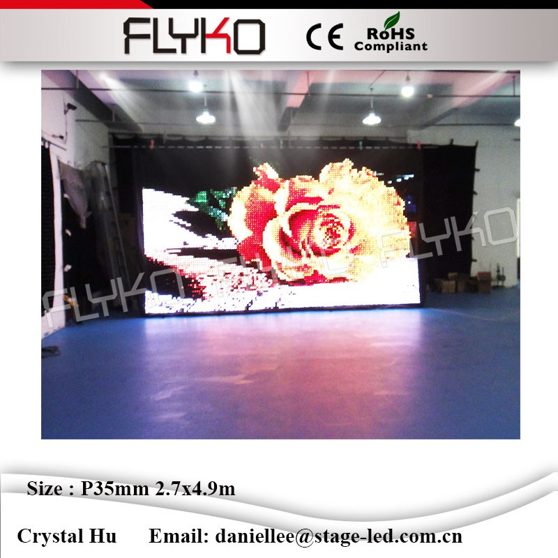 Flexible led video curtain backdrops rgb stage lighting event party night club dj led video curtain P3.5cm 2.7m*4.9m